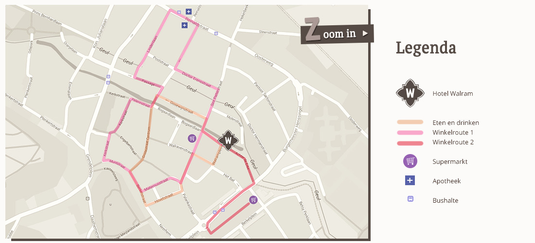 Diverse routes door de winkelstraten van Valkenburg