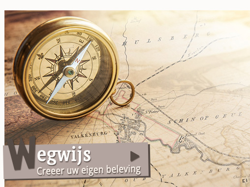 Kompas op een kaart
